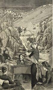 ORIGINAL SURREALIST COLLAGE Art Victorian antique music grand piano instrument