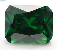 Unheated 10x12mm 8.35ct Emerald Green Natural Emerald Diamond Cut VVS Loose Gems