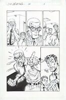 DV8 #22 page 8, Original Comic Art by Al Rio, Image Comics, 1998, Sideways Bob