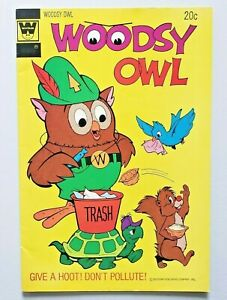Woodsy Owl #1 1973 Whitman Give a Hoot Don't Pollute Very Good Condition