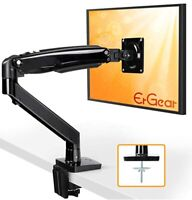 ErGear 22-35 Premium Single Monitor Stand Mount w/USB, Ultrawide Computer Screen