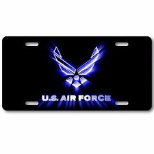 Air Force Us Military Black Aluminum Novelty Car License Plate Tag New Cool!