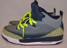 Nike-Air-Jordan-Son-Of-Mars-Low-Gs-Grey-Blue-Yellow- Size 7Y