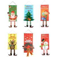Frohe Weihnachten Banner Santa Claus Flag Tür Fenster Ornamente hängen C0G0
