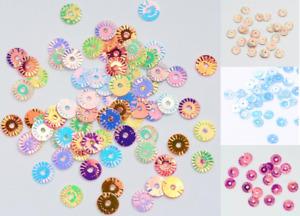 Save 25% 5g 20g 50g Fancy Sequins 6mm Circles Pastel Colours Patterned edges