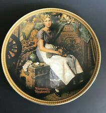 """Norman Rockwell Knowles Plate 1984 """"Dreaming in the Attic� Numbered"""