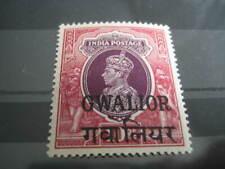 British India, Gwalior 1938-48 George VI 10Rs Purple & Claret SG 115 MNH