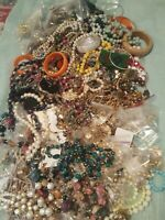 WEARABLE VINTAGE- NOW COSTUME JEWELRY LOT + FREE .925  Charm.