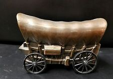 Banthrico? Diecast Copper Covered Wagon w/moving wheels Promotional Coin Bank