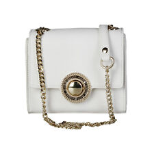 Womens Clutch Handbag Versace Jeans Genuine Crossbody Bag Metallic Strap New