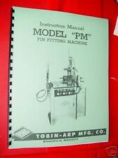 Tobin Arp Model PM Rod Boring Machine Inst. Manual