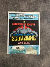 Monsters of ROCK Nürnberg 1986 Ticket, SCORPIONS, OZZY OSBOURNE, BON JOVI