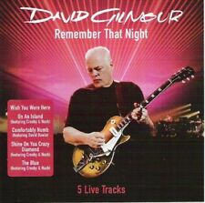 David Gilmour - Remember That Night (2007) CD Promo Columbia (5 live tracks) NEW