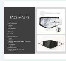 masque tissu 2 couches avec emplacement pour filtre