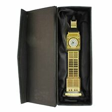 Crystal Made Big Ben Tower Decorative Showpiece with a Watch and Lighting Effect