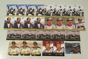 Lot of 27 Pinnacle Pole Position Racing NASCAR Trading Cards - Dale Earnhardt