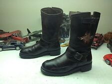 HARLEY-DAVIDSON USA EAGLE BROWN LEATHER MOTORCYCLE ENGINEER BOSS BOOTS 10.5 E