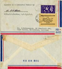 More details for 1946 flight goodwill label tied carried lancaster lincs signed pilot clarine