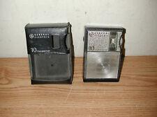 VINTAGE GE GENERAL ELECTRIC 10 TRANSISTOR RADIO WITH BLACK CASE - WORKS!
