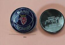 SAAB/SCANIA 50mm 2 Pin front emblem badge 1985-1993=900i 1995-2002 9.3 & 9000