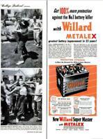 1951 Willard Battery PRINT AD Super Master Metalex