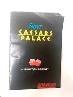 Super Caesars Palace SNES Instruction Manual Nintendo Booklet NO GAME/BOX