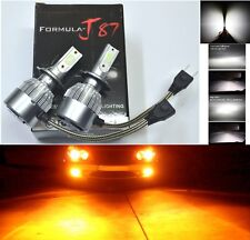 LED Kit C6 72W H7 Orange Amber Two Bulb Head Light High Beam Replacement Upgrade