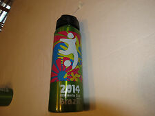 FIFA World Cup Brazil 2014 stainless steel bottle green Cup **damaged** 20 fl oz