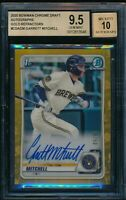 BGS 9.5/10 GARRETT MITCHELL AUTO 2020 Bowman Chrome GOLD REFRACTOR #/50 GEM MINT