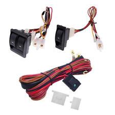 Car Electric Power Window Switch & 12V Wire Harness Kits for Window Regulator