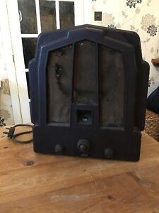 Ekco Vintage Bakelite Valve Radio Type M23