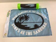 """Boat flag 12""""X18"""" Boat Flags - What Happens At The Sandbar Stays At The Sandbar"""