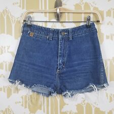 VINTAGE 90'S JESSE JEANS DISTRESSED HIGH WAISTED DENIM CUT OFF SHORTS SIZE 7/8