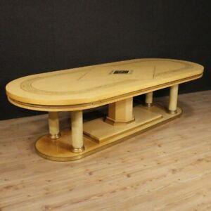Tavolo da pranzo design modernariato scrittoio scrivania moderna in legno 900