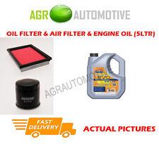 PETROL OIL AIR FILTER KIT + LL 5W30 OIL FOR NISSAN JUKE 1.6 94 BHP 2013-