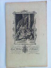 LE JUGEMENT DE SALOMON Gravure originale THE CHRISTIAN'S FAMILY BIBLE 1763