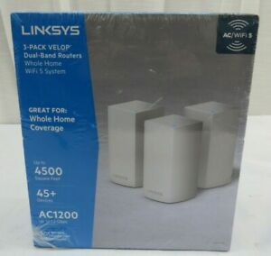 NEW Linksys Velop Home Dual-Band Routers WiFi System AC1200, VLP0103-NP