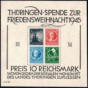 SBZ Thüringen Block 2 x TYP 1** I Attest D. Schulz! Unbedingt Text lesen!!!