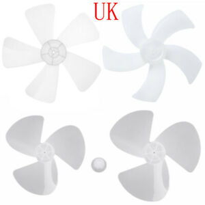 16/18inch General 3-5 Leaves Fan Blade w/Nut Parts for Standing Fan Table Fanner