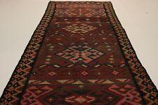 S.Antik Feiner Nomaden Kelim Unikat Perser Teppich Orientteppich 3,10 X 1,25