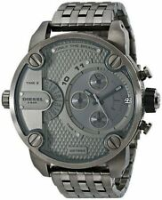 Diesel DZ7263 Men's Gunmetal Stainless Steel SBA 2 Time Zone Chronograph Watch