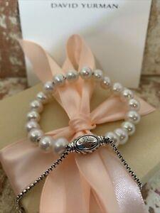 DAVID YURMAN 8mm Spiritual Bead Bracelet with Pearls Adjustable