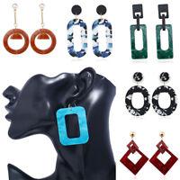 Fashion Women Geometric Acrylic Long Drop Dangle Earrings Statement Jewelry