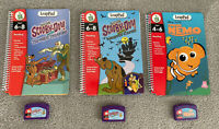 Leapfrog Leadpad Story Books And Cartridges X3 Stories - Scooby Doo & Nemo!