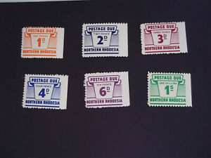 NORTHERN RHODESIA POSTAGE DUE STAMPS SET