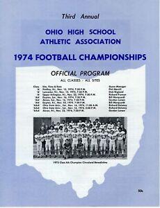 1974 OHIO HIGH SCHOOL FOOTBALL CHAMPIONSHIP PROGRAM 3rd ANNUAL     VERY RARE
