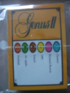 Trivial pursuit cards GENUS II edition ~ travel/ party/ wedding favors /quiz