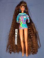 Totally Hair Barbie Brunette Longest Hair Ever Ultra Long No Styling Gel 1991