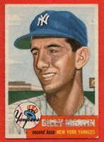 1953 Topps #86 Billy Martin VG MARKED New York Yankees FREE SHIPPING