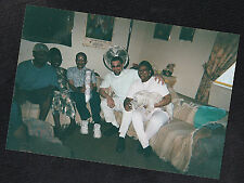 Vintage Photograph Group of African American People in Living Room w/ Puppy Dog